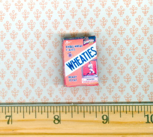 Dollhouse Miniatures Size Older Sports Cereal Box Baseball Player
