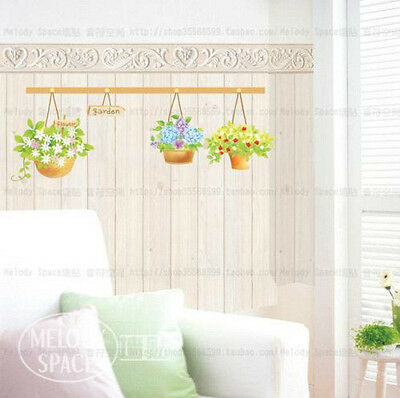 Flower Basket Home Decor Removable Wall Sticker Decal Decoration Vinyl Mural