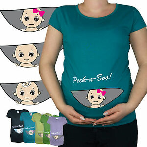 New Print Maternity T bambino shirt Top Peek 20 A 10 Pregnancy da Boo aaqgr