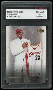 LEBRON JAMES 2003-04 UPPER DECK #9 1ST GRADED 10 ROOKIE CARD LAKERS/CAVALIERS