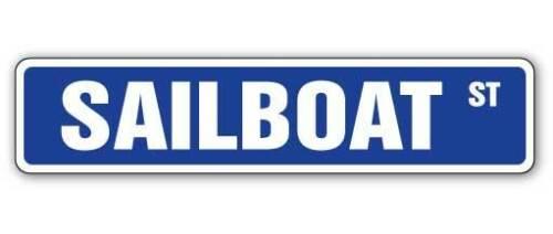 SAILBOAT Street Sign beach nautical decor sail boats Indoor//Outdoor