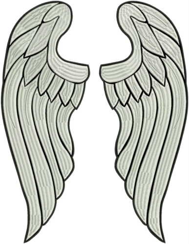 """16/"""" FULL embroidery!! Angel wings LARGE embroidered back patch Huge 40cm"""