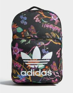 82b3775227 Image is loading Adidas-Classic-Backpack-Floral-Print-Rucksack-Trefoil-Work-