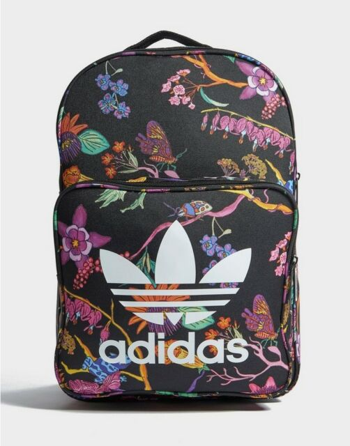 2963727cf4 Adidas Classic Backpack Floral Print Rucksack Trefoil Work School Gym Bag