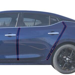 Custom Nissan Maxima >> Details About 2016 2018 Fits Nissan Maxima 4pc Pre Cut Custom Fit Invisible Door Edge Guards