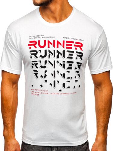 T-shirt Tee Col Rond Manches Courtes Imprimé Motif Sport Print Messieurs Mix BOLF slim fit