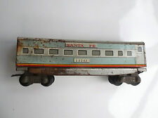 Ancien wagon train Santa fe Tin Toy Jouet en Tole
