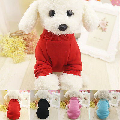 New Velvet Pet Puppy Dog Cat Clothes Hoodie Jacket Coat Jumpsuit Costume Apparel