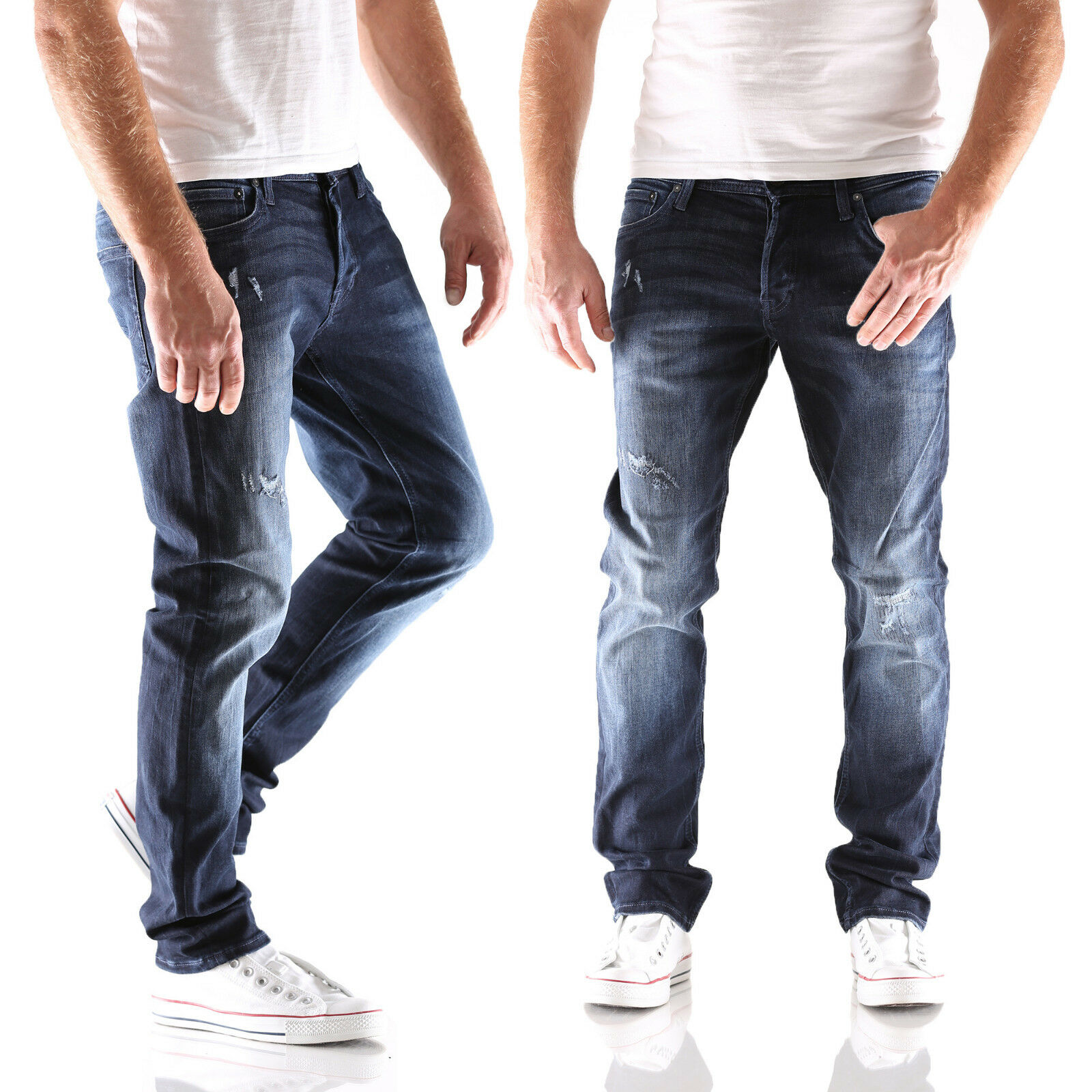 Jack & Jones Glenn ORIGINALE GE 149 Slim Fit Jeans Uomo Pantaloni Nuovo