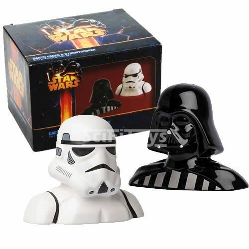 Darth Vader /& Stormtrooper ceramic Salt and Pepper Set Star Wars