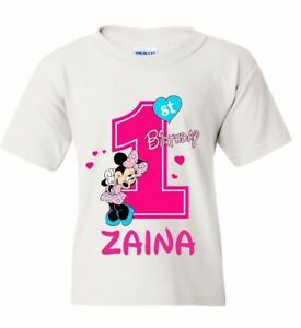 2b5cfd8d8 Image is loading Disney-Minnie-Mouse-Birthday-Girl-T-Shirt-Personalized-