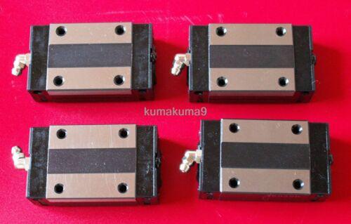 CNC Set 15-1700mm 2x Linear Guideway Rail 4x Square type carriage bearing block