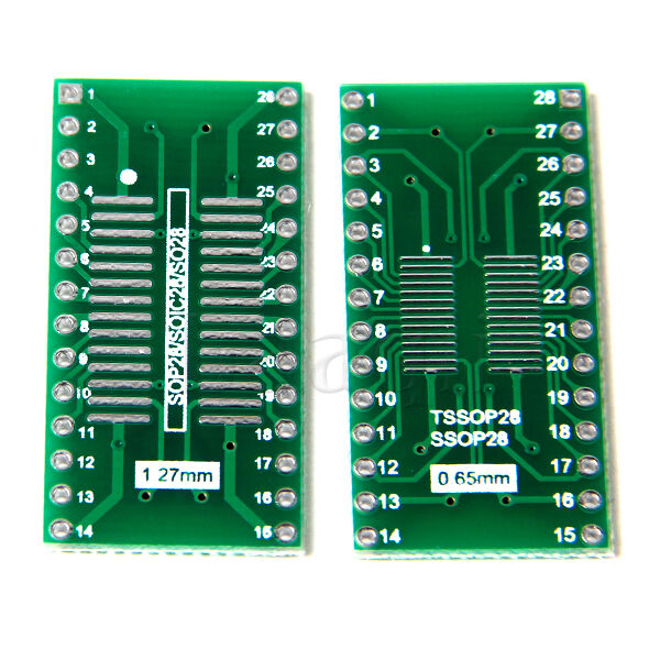 5pcs SO28 SOP28 SSOP28 TSSOP28 SOIC28 to DIP28 Adapter Converter PCB Board MA