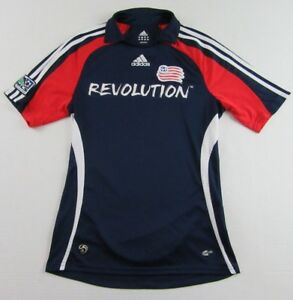 89e9f66308c Adidas New England REVOLUTION MLS Red White Blue SS Soccer Jersey ...