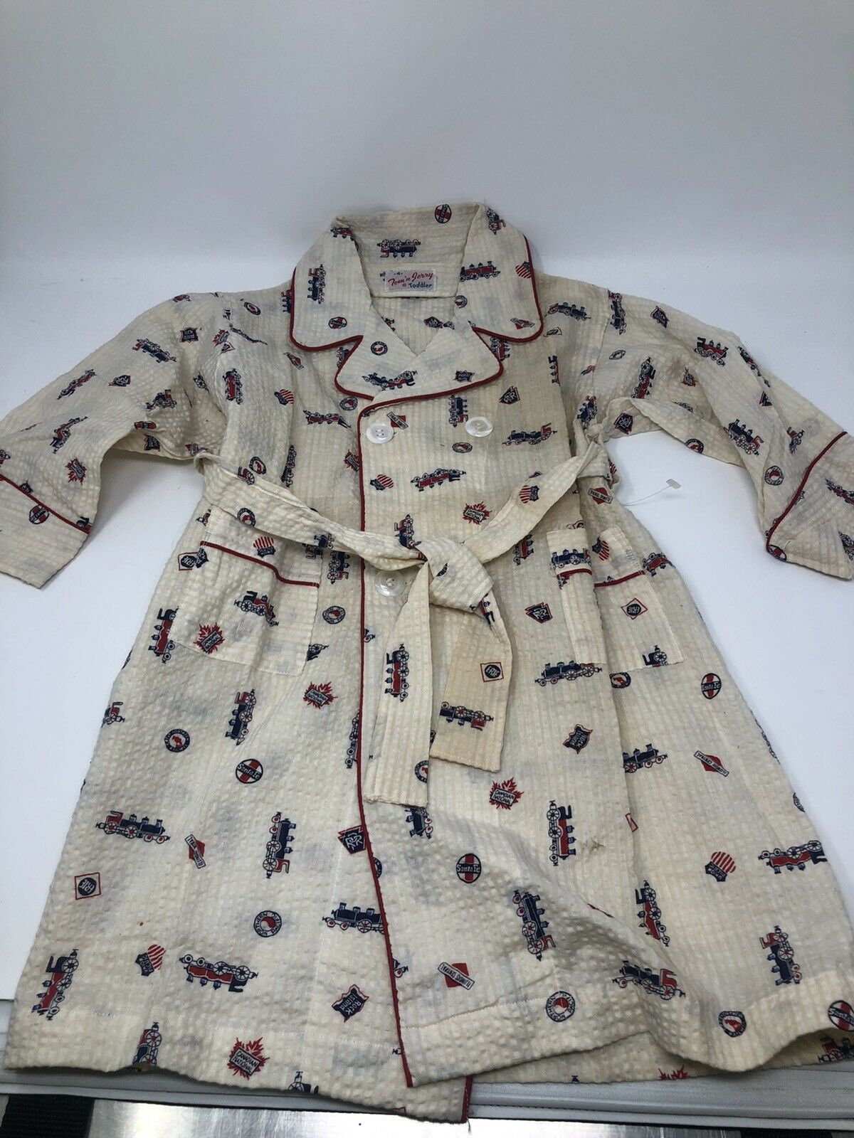 TOM 'N' JERRY Vintage 1950's Toddler Pajama Robe - image 1