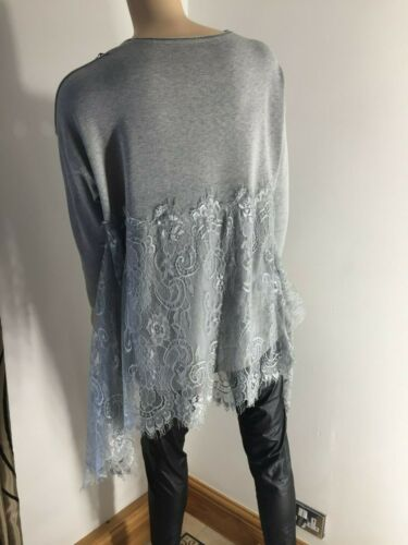 Finest Lace Jumper Swing Style Fine Knit Softest Feel Stretchy Long Length NEW
