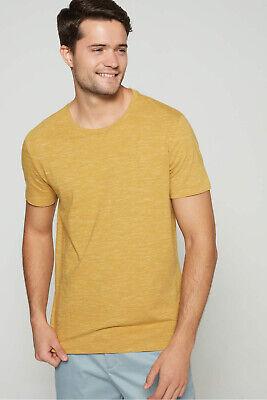M New Men/'s Size Banana Republic Yellow Soft Wash Crew Neck T-Shirt NWOT