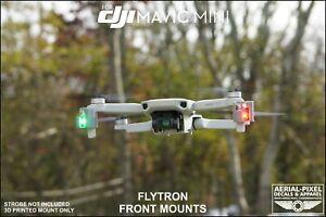 DJI Mavic Mini and Mini 2 Strobe Mounts For Flytron Strobon Cree, Firehouse Tech