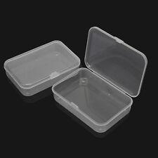 5x Kunststoff Transparent mit Deckel Aufbewahrungsbox Sammlung Behälter-Kasten