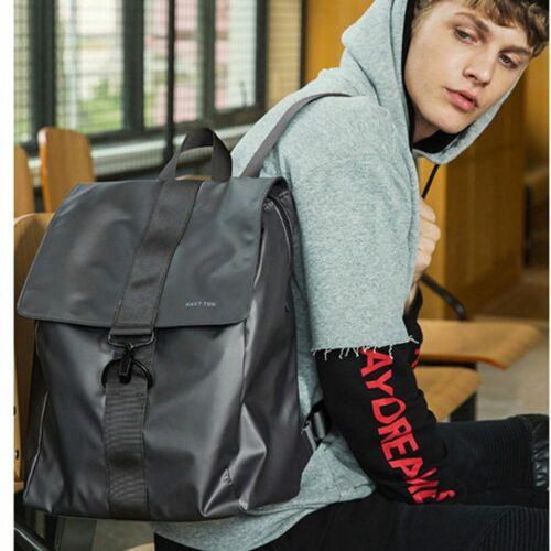 Modern Sleek Grey Nylon Shoulder Fashion Bag Backpack Metal Clasp Closure