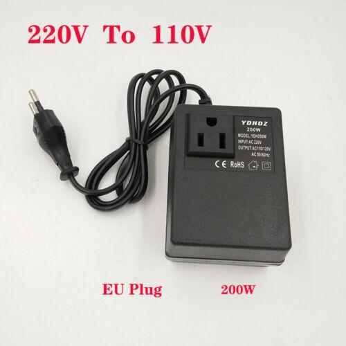 Voltage Step-down Transformer 200W 220V to 110V Step Down Travel Support EU Plug