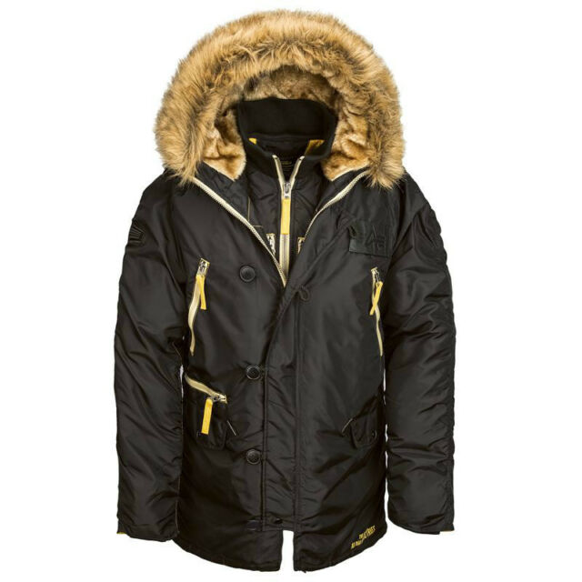 ALPHA INDUSTRIES N-3B INCLEMENT COLD WEATHER PARKA BLACK,REPLICA GRAY, SAGE N3B