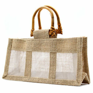 5-x-Three-Small-Jar-Jute-Gift-Bag-Bags-With-round-cane-Handles-22-X-7-5-X-11cm