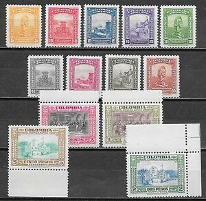 Colombia stamps 1941 MI 424-436 AIRMAIL MNH/MLH VF