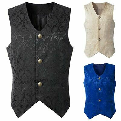 Brocade Mens Vest Waistcoat Gothic Steampunk Victorian Western Wedding Waistcoat