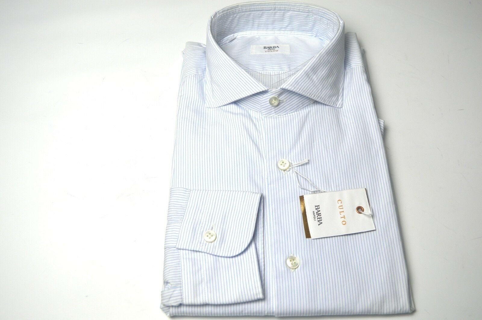 NEW BARBA  Dress SHIRT  100% Cotton Size 16.5  Us 42 Eu  (BA26)