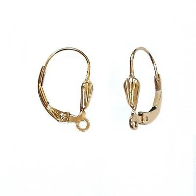 14K Gold Filled  Wire Earring Large  Kidney,12x35mm #L3