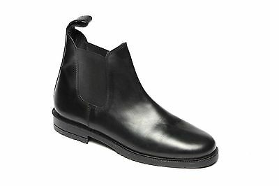 Boys Black Leather Chelsea Dealer Pull On Ankle Boots Size UK 1-6 Catesby CX15