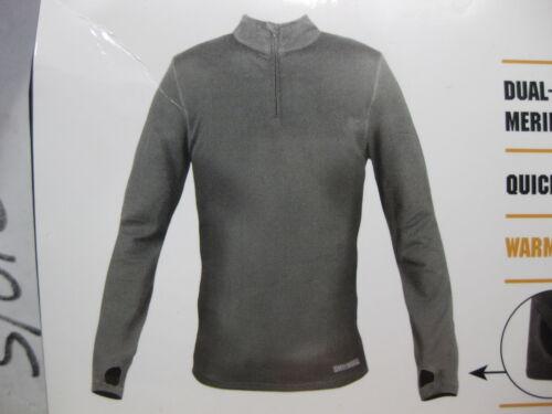 NEW 1 Omni Wool Mens Dual Layer Thermal Zip Top Baselayer Shirt MANY SIZES AVA.