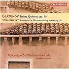 Glazunov: String Quintet, Op. 39; Tchaikovsky: Souvenir de Florence, Op. 70 (1995)