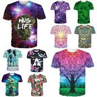 Rasta Women Men Galaxy Space Weed Leaf Cannabis Buds 3d Print T-shirt Tee Shirt