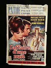 It Happened All Night 1960 Belgian Movie Poster Pascale Petit Roger Hanin
