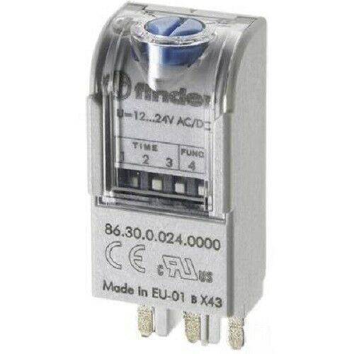⚠️ Finder 86.30.0.024.0000 Relais Zeitrelais Steckmodul für 12-24V AC//DC ⚠️