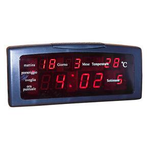 Orologio sveglia digitale zxtl 13a da tavolo led datario - Orologio digitale da tavolo ...