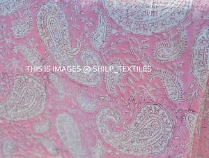 indischer Vintage Baumwolle neuer Blockdruck laufenden Stoff handgefertigte