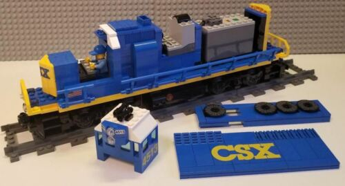 Lego Train Custom CSX Blue GP40 ----Please Read Item Description