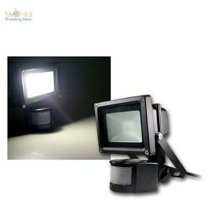 LED-Scheinwerfer-schwarz-Aussenleuchte-Fluter-mit-Bewegungsmelder-daylight-PIR