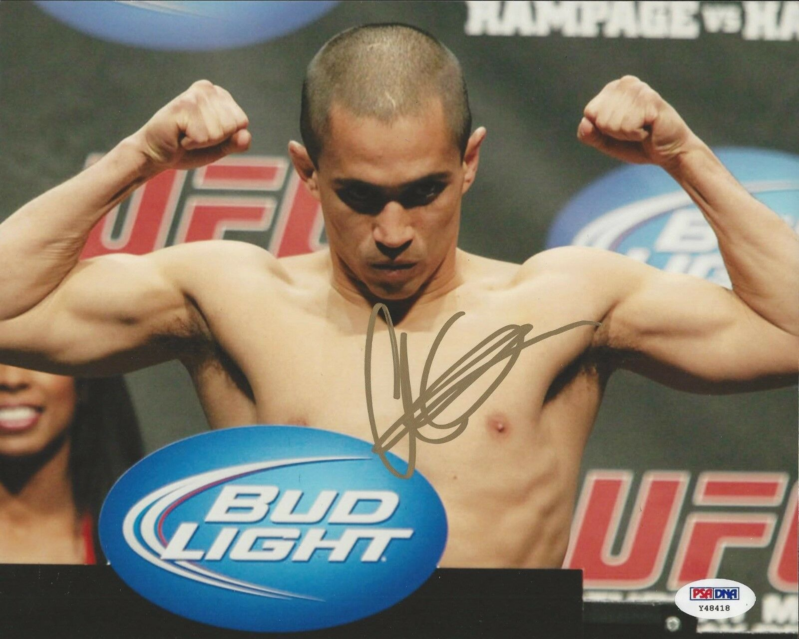 Chris Cariaso UFC Fighter signed 8x10 photo PSA/DNA # Y48418