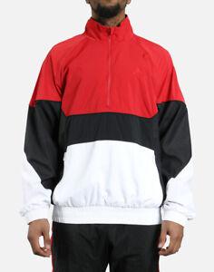 83cf75dc1331 Mens Jordan Retro 3 Track Jacket AQ0942-687 Red Black Brand New Size ...