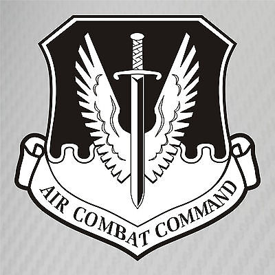 Sticker      US Air Force USAF Air Combat Command Decal