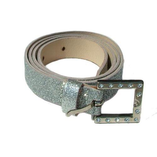Cintura Donna Gusella New Glitter Strass Grigio Argentato Glitterstile