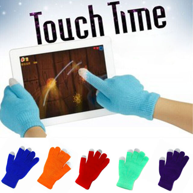 Hot New Soft Men Women Touch Screen Gloves Texting Capacitive Smartphone Knit