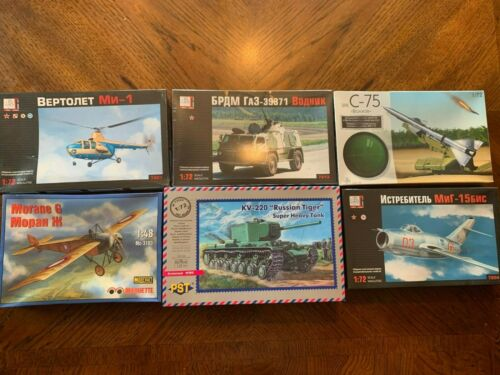 Missile Launcher Helicopter Tanks and Planes NIB 6 vintage Military Models