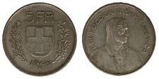 Svizzera Switzerland Suisse 5 Franchi Francs 1948 B Argento Silver #2133