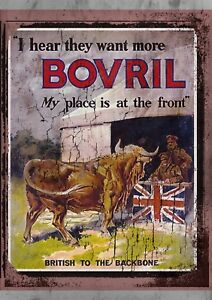 """Bovril 10x8/"""" Retro Vintage Metal Advertising Sign Plaque Wall Art Pic"""