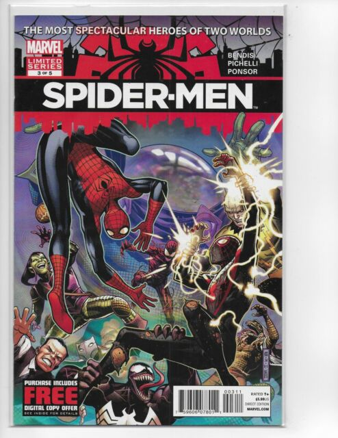 SPIDER-MEN #3 MILES MORALES MARVEL Comic key